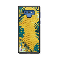 Gold Glitter Chevron X Tropical Forest Samsung Galaxy Note 9 Case
