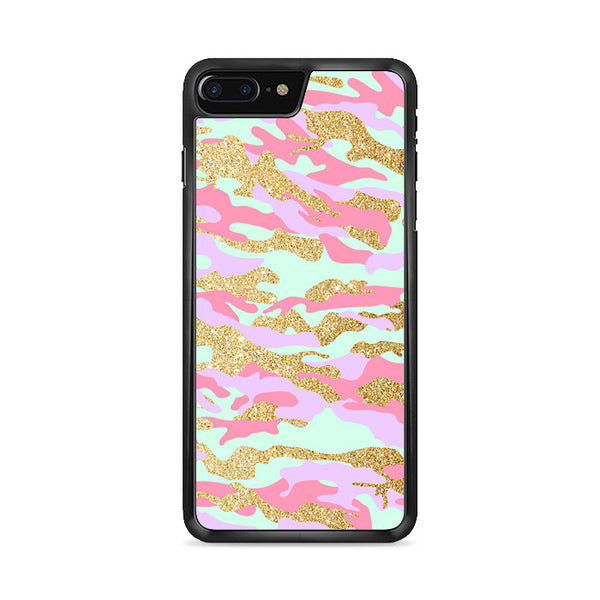 Gold Glitter X Pastel Tye Dye iPhone 8 Plus Case