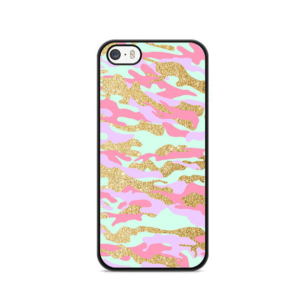 Gold Glitter X Pastel Tye Dye iPhone 5|5S|SE Case