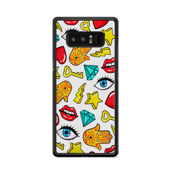 Hamsa Lips Diamonds Noise Icons Samsung Galaxy Note 8 Case