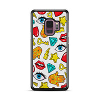Hamsa Lips Diamonds Noise Icons Samsung Galaxy S9 Case