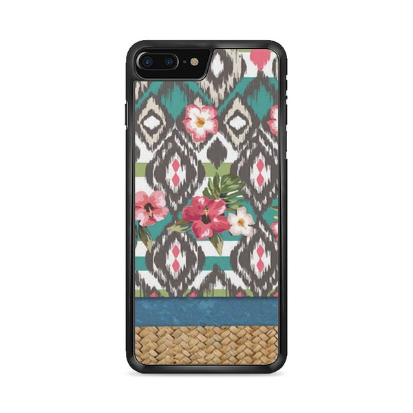 Hand Painted Tribal Flowers iPhone 8 Plus Case