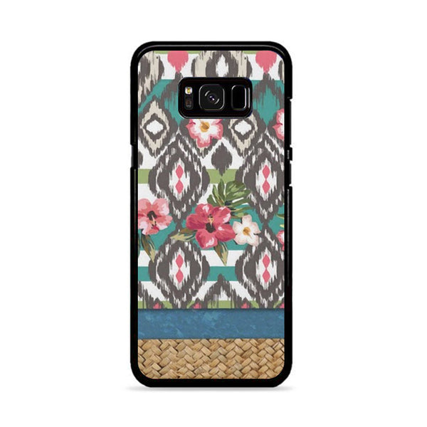 Hand Painted Tribal Flowers Samsung Galaxy S8 Case