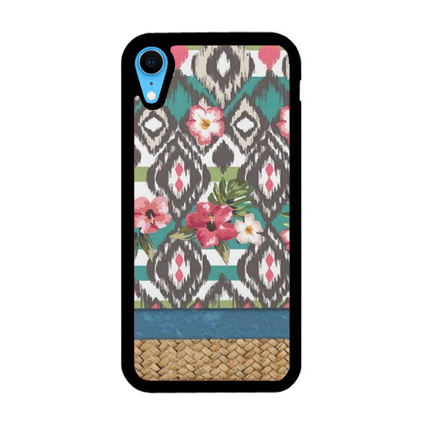 Hand Painted Tribal Flowers iPhone XR Case