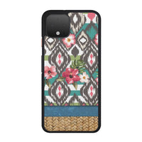 Hand Painted Tribal Flowers Google Pixel 4 Case