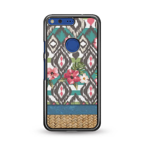 Hand Painted Tribal Flowers Google Pixel XL Case