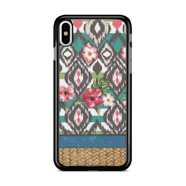 Hand Painted Tribal Flowers iPhone X Case
