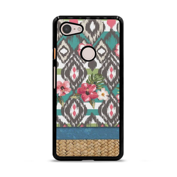 Hand Painted Tribal Flowers Google Pixel 3 Case