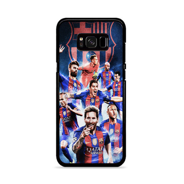 Barcelona Fc Lionel Messi With Friend_ Samsung Galaxy S8 Plus Case