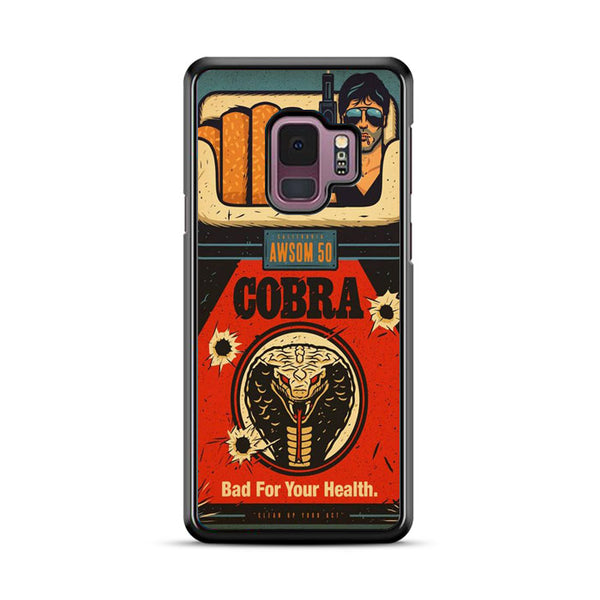 Cobra Rambo Ciggarete Bad For Health Samsung Galaxy S9 Plus Case