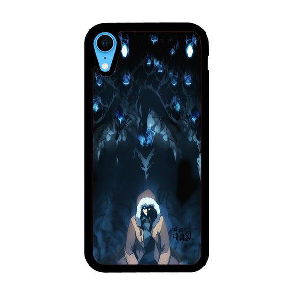 Manhwa Solo Leveling Sung Jin Woo Shadow Monarch iPhone XR Case