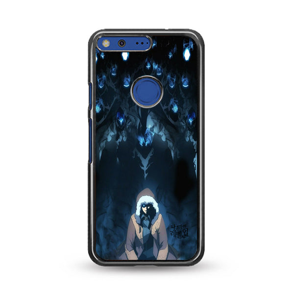 Manhwa Solo Leveling Sung Jin Woo Shadow Monarch Google Pixel Case