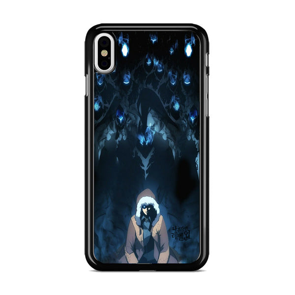 Manhwa Solo Leveling Sung Jin Woo Shadow Monarch iPhone X Case