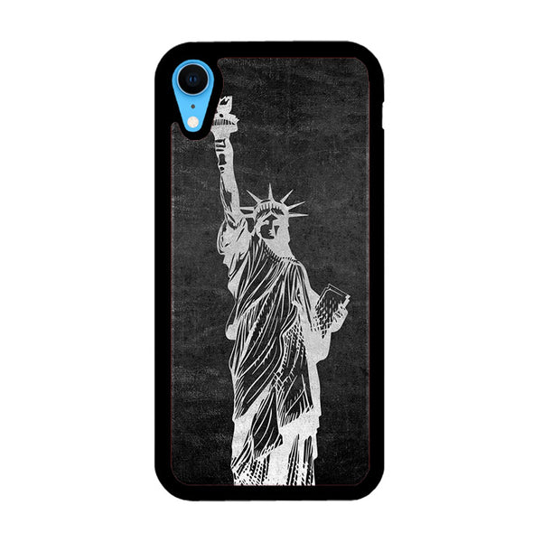 Metallic Statue Of Liberty, Freedom iPhone XR Case