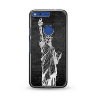 Metallic Statue Of Liberty, Freedom Google Pixel XL Case