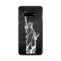 Metallic Statue Of Liberty, Freedom Samsung Galaxy S10 Case