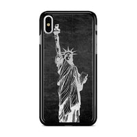 Metallic Statue Of Liberty, Freedom iPhone XS Case