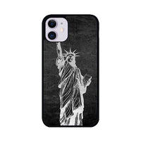 Metallic Statue Of Liberty, Freedom iPhone 11 Case