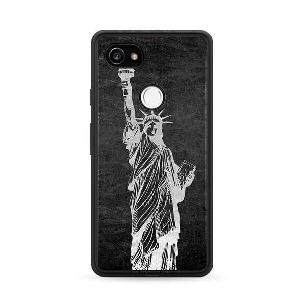 Metallic Statue Of Liberty, Freedom Google Pixel 2 Case