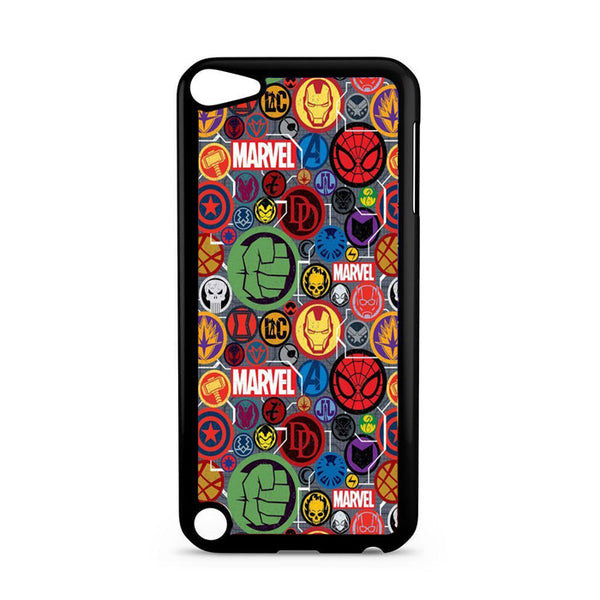 Collage Logo Of Marvel Heroes iPod 5 Case