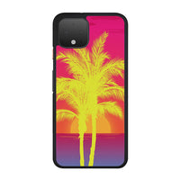 Neon Palm Trees X Island Sunset Google Pixel 4 Case