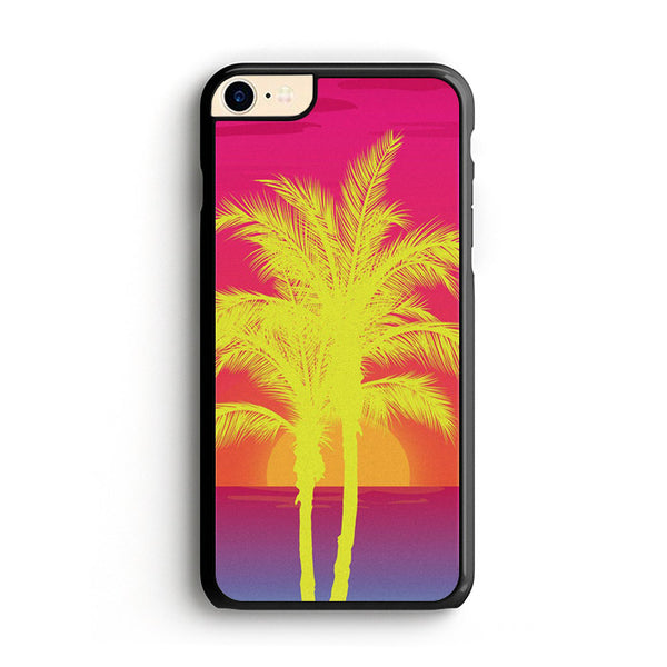 Neon Palm Trees X Island Sunset iPhone 8 Case