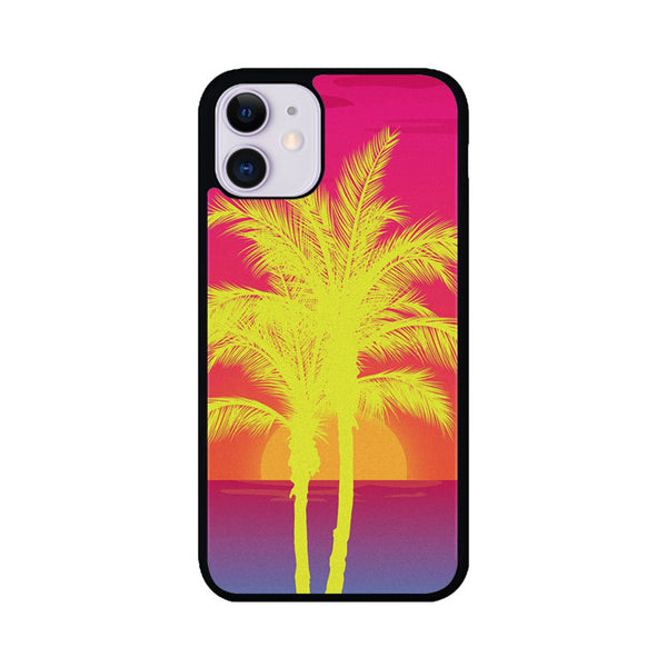 Neon Palm Trees X Island Sunset iPhone 11 Case