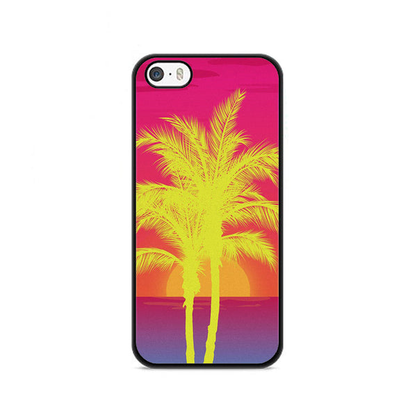 Neon Palm Trees X Island Sunset iPhone 5|5S|SE Case