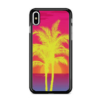 Neon Palm Trees X Island Sunset iPhone X Case