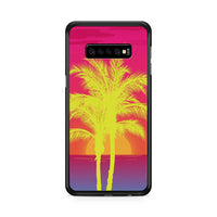 Neon Palm Trees X Island Sunset Samsung Galaxy S10e Case