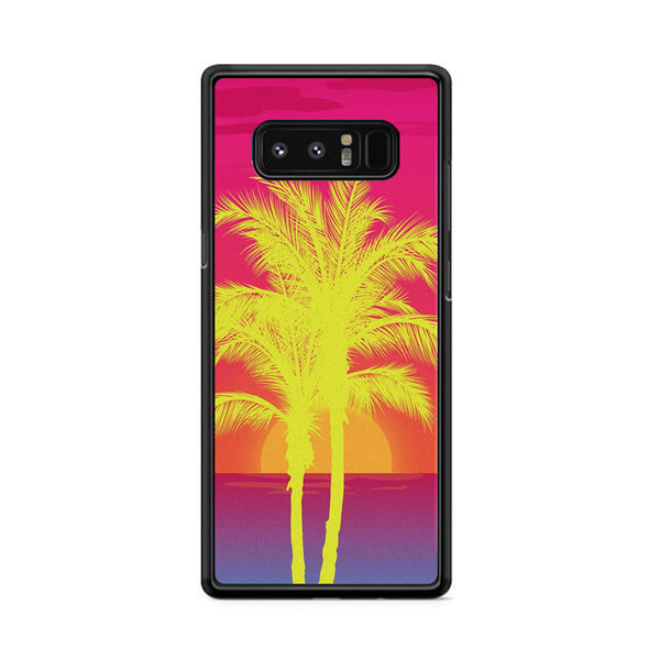 Neon Palm Trees X Island Sunset Samsung Galaxy Note 8 Case