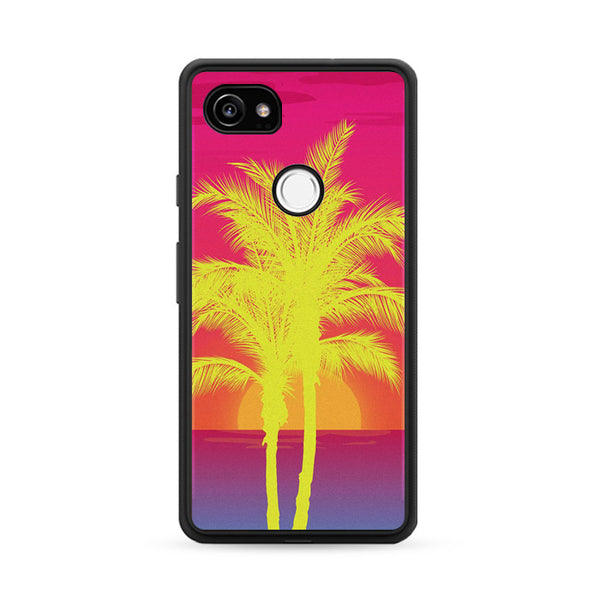 Neon Palm Trees X Island Sunset Google Pixel 2 Case