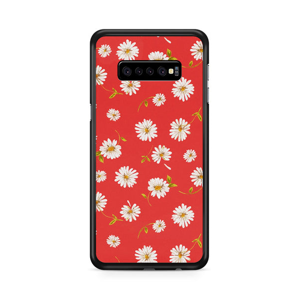Noise Daisy Daydream Red Coral Floral Samsung Galaxy S10 Plus Case