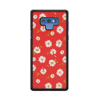 Noise Daisy Daydream Red Coral Floral Samsung Galaxy Note 9 Case