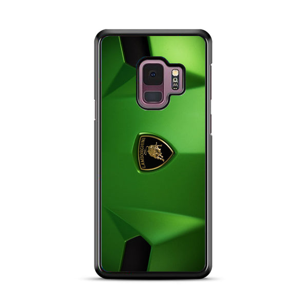 Green Front Car Lamborghini Wallpaper Samsung Galaxy S9 Plus Case