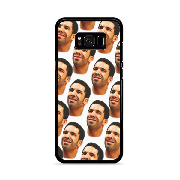 Drake Collage Head Pattern Samsung Galaxy S8 Plus Case