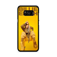 Billie Eilish Cool In Yellow Background_ Samsung Galaxy S8 Case
