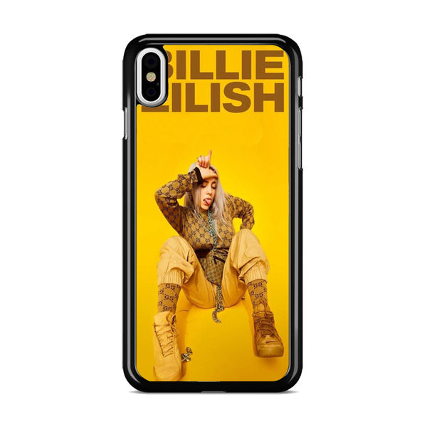 Billie Eilish Cool In Yellow Background_ iPhone XS Case