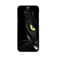 Black Cat Yellow Eye_ Samsung Galaxy S8 Case