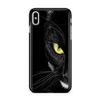 Black Cat Yellow Eye_ iPhone XS Case