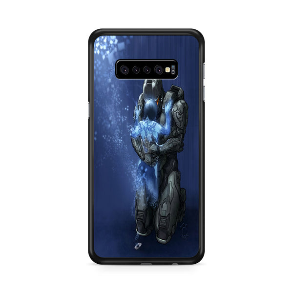 Master Chief And Cortana Art Halo Games Samsung Galaxy S10e Case