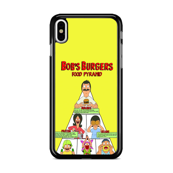 Bobs Burgers Food Pyramid_ iPhone X Case