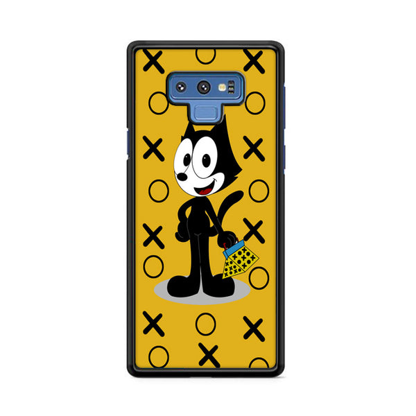 Felix The Cat With Pattern Yellow Samsung Galaxy Note 9 Case