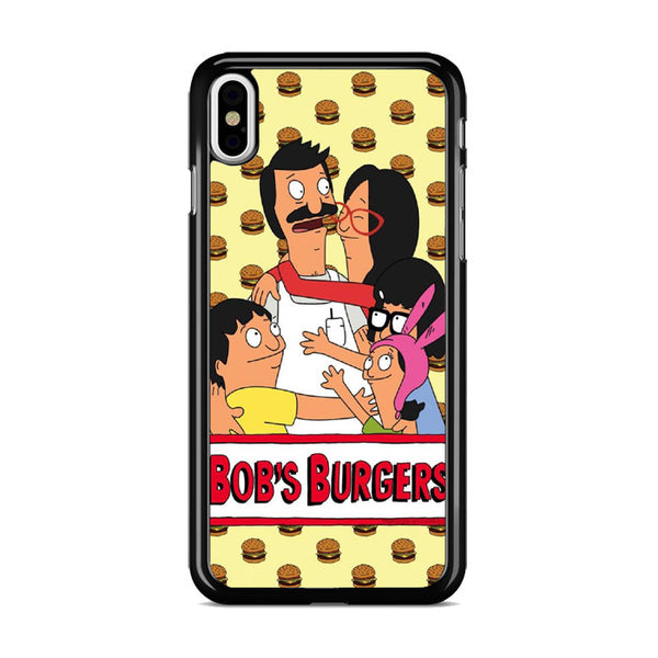 Bobs Burgers With Burgers Pattern_ iPhone XS Max Case