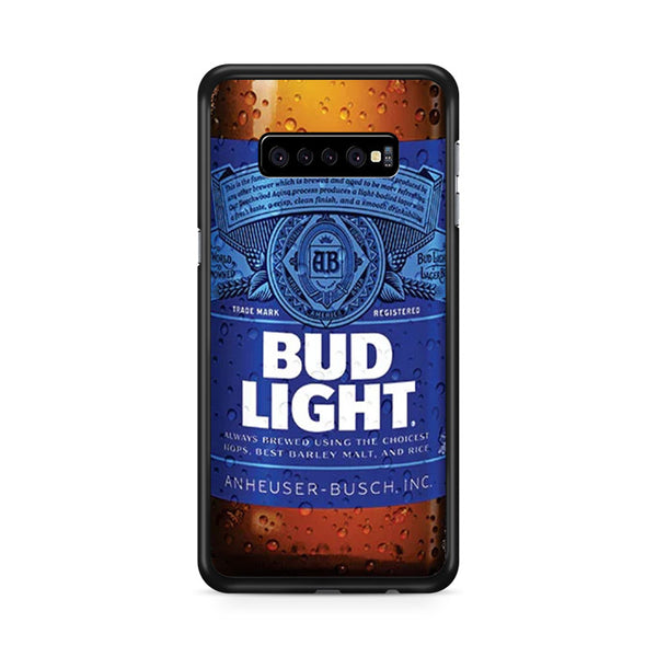 Bud Light Beer Bottle Samsung Galaxy S10 Plus Case