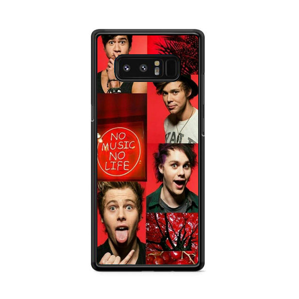 Five Sos No Music No Life Samsung Galaxy Note 8 Case