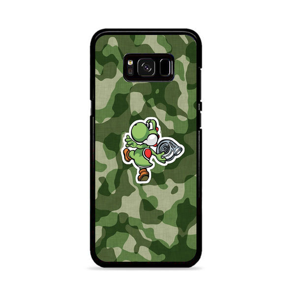 Turbo Yoshi Camouflage Wallpaper Samsung Galaxy S8 Plus Case