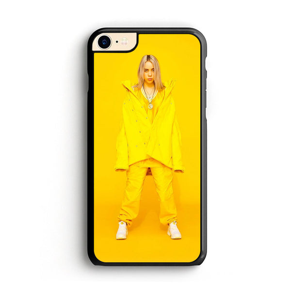 Billie Eilish In Yellow Outfit Yellow Background iPhone 8 Case