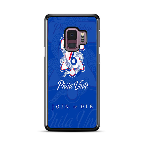 Philadelphia 76Ers Snake Logo Phila Unite Join Or Die Samsung Galaxy S9 Plus Case | Miloscase