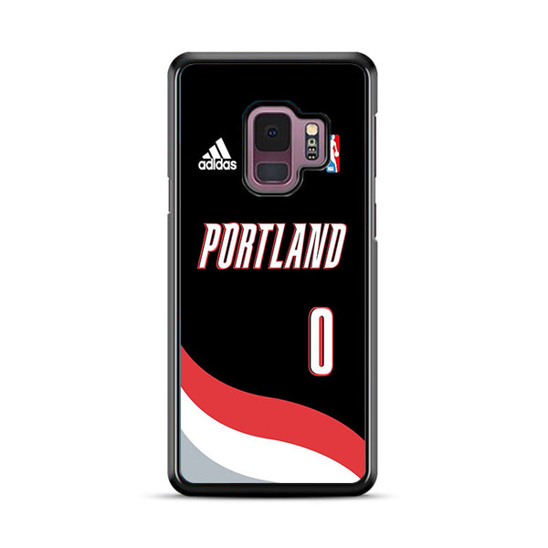 Portland Nba Number Zero Jersey Wallpaper Samsung Galaxy S9 Plus Case | Miloscase